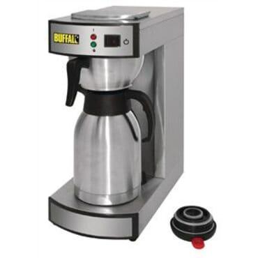 Cafetera para servir y jarra termo