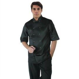 Chaqueta de cocina manga corta Vegas negra Whites