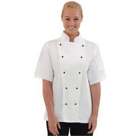 Chaqueta cocina Chicago manga corta blanca