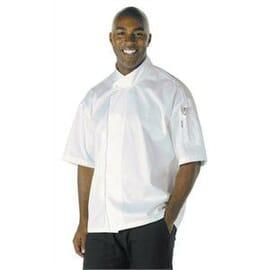 Chaqueta de cocinero Executive Cool Vent blanca manga corta Chef Works