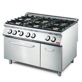Cocina a gas Gastro-M VS70/120CFG 6 quemadores y horno a gas.