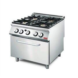Cocina gas Gastro-M 4 quemadores y horno