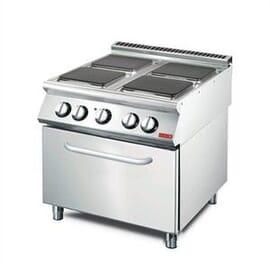 Cocina eléctrica 4 placas y horno convección