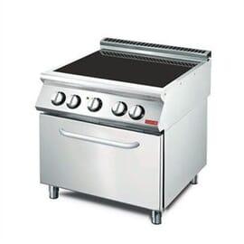 Cocina vitrocerámica 4 zonas y horno