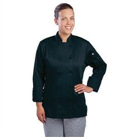 Chaqueta ejecutiva negra para mujer Marbella Chef Works