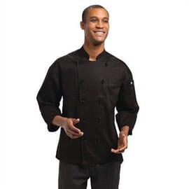 Chaqueta cocina Mónaco Executive negra Chef Works