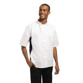 Chaqueta de cocina Nevada blanca y negra