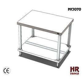 Mesa de acero inoxidable 100 cm. de ancho