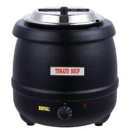 Olla calentadora negra calor húmedo 10 litros.