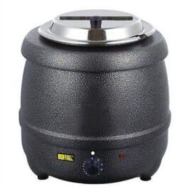 Olla calentadora gris grafito calor húmedo 10 litros.