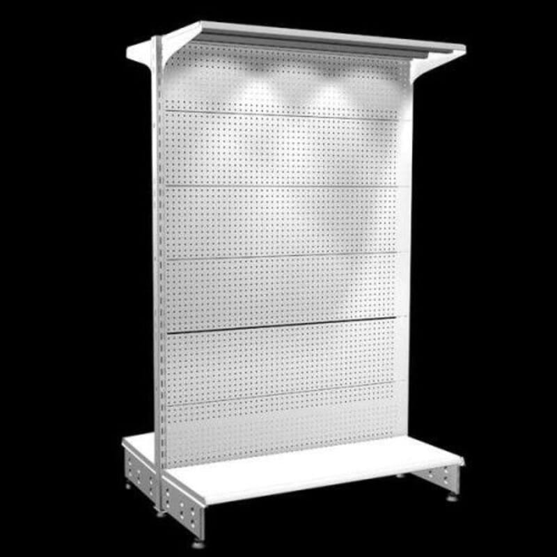 Estanteria tipo gondola central con perforada para ganchos global ecommerce - Ganchos para estanterias ...