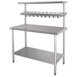 Mesa de preparados de acero inoxidable 600mm