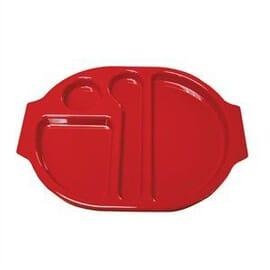 Bandejas con compartimentos rojo Kristallon