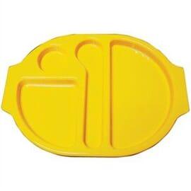 Bandejas con compartimentos amarillo Kristallon