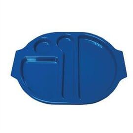 Bandejas con compartimentos azul Kristallon