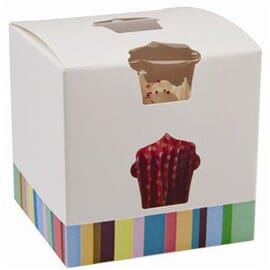 Caja individual para cupcake y magdalena