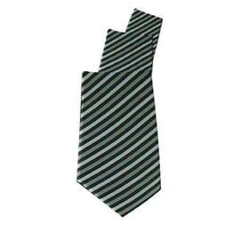 Corbata a rayas finas gris