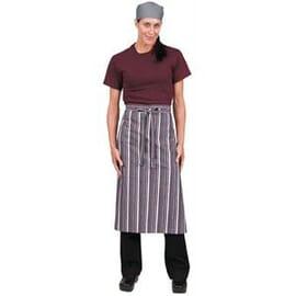Delantal de camarero a rayas merlot gris blanco Chef Works
