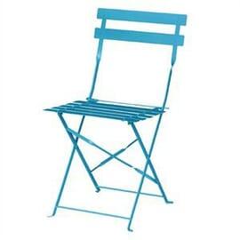 Silla de acero para terraza Bolero azul (juego 2)
