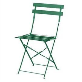 Silla de acero para terraza Bolero verde (juego 2)