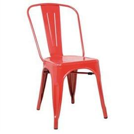 Silla de acero Bolero roja (Juego 4)