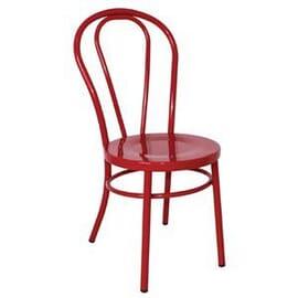 Silla de acero Bolero Bentwood roja