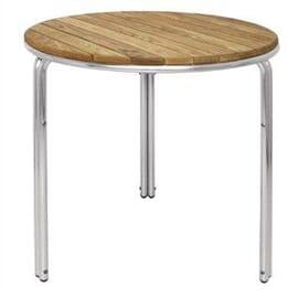 Mesa redonda apliable Bolero fresno y aluminio 600mm