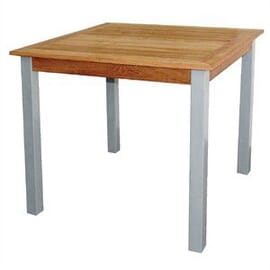 Mesa de aluminio y teca Bolero