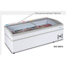 Congelador horizontal puertas correderas cristal curva 273 Litros