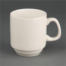 Taza de té apilable marfil Olympia (12 Unidades)