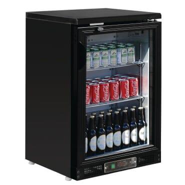 Enfriador expositor de bar terminación negra 104 botellas Polar