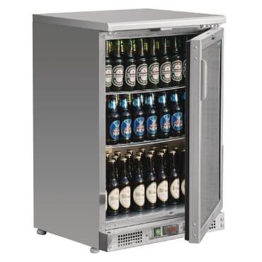 Enfriador expositor de bar acero inoxidable 104 botellas