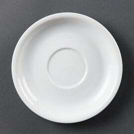 Platos de taza de capuchino blancos 160mm