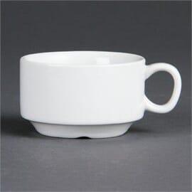 Taza espresso apilable blanca Olympia