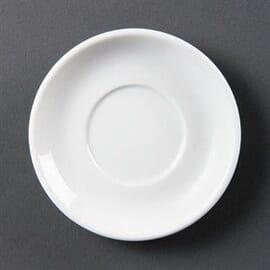 Plato de taza espresso apilable blanco