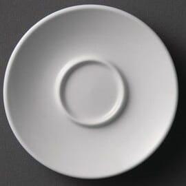 Platos de taza espresso blancos 120mm