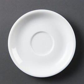 Platos de taza de capuchino blancos