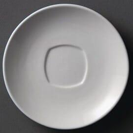 Plato cuadrado redondeado blanco