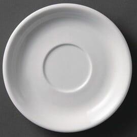 Platos de taza de capuchino blancos 180mm