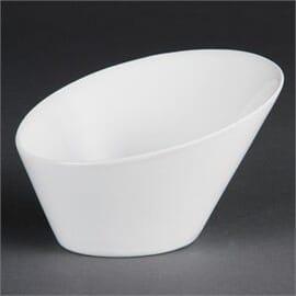 Bols inclinados ovalados blancos 203 x 185mm