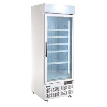 Vitrina congeladora Polar una puerta panel iluminación exterior Una puerta. 412 litros