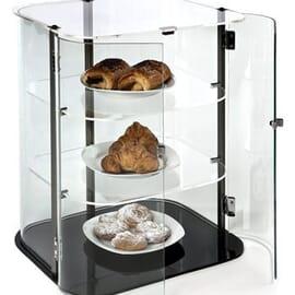 Expositor neutro cerrado de cristal