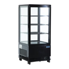 Expositor refrigerado negro 68L
