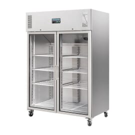 Armario frigorífico Polar 600Ltr puerta de vidrio