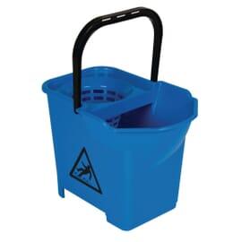 Cubo de fregona con código de color Jantex azul