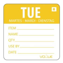 Etiqueta día de la semana Martes