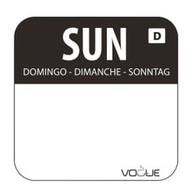 Etiquetas solubles de rotación de alimentos Vogue Domingo