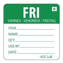Etiquetas solubles de rotación de alimentos Vogue Viernes
