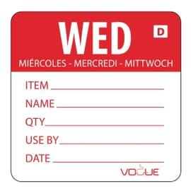 Etiquetas solubles Día de la Semana Vogue