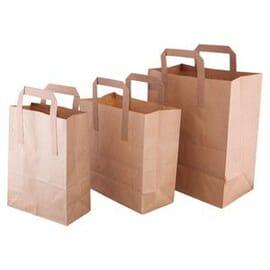 Bolsas de papel reciclado marrón Medianas